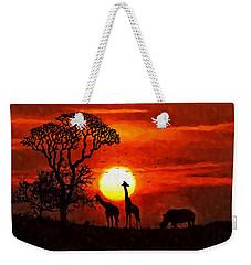 Sunset In Savannah Weekender Tote Bag