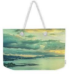 Weekender Tote Bag featuring the photograph Sunset In Tahiti by Gary Slawsky