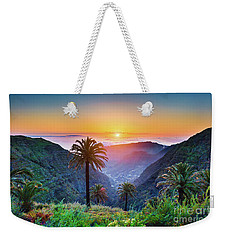Sunset In The Canary Islands Weekender Tote Bag by JR Photography