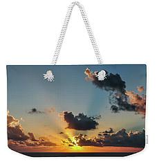 Sunset In The Caribbean Sea Weekender Tote Bag