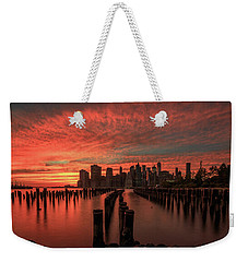 Sunset In The City Weekender Tote Bag by Anthony Fields