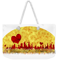 Sunset In The City Of Love Weekender Tote Bag