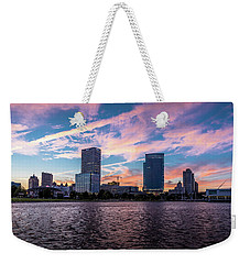 Weekender Tote Bag featuring the photograph Sunset In The City by Randy Scherkenbach