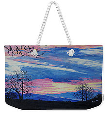 Sunset In The Country Weekender Tote Bag by Lisa Rose Musselwhite