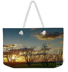 Sunset In The Fields Of Binyamina Weekender Tote Bag by Arik Baltinester