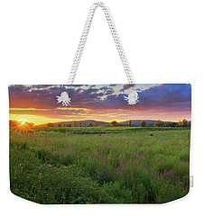 Weekender Tote Bag featuring the photograph Sunset In The Hills 2017 by Bill Wakeley