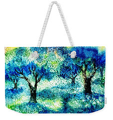 Sunset In The Olive Grove  Weekender Tote Bag by Trudi Doyle