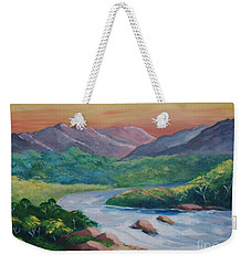 Sunset In The River Weekender Tote Bag