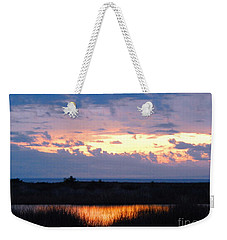 Sunset In The River Sea Beyond Weekender Tote Bag by Expressionistart studio Priscilla Batzell