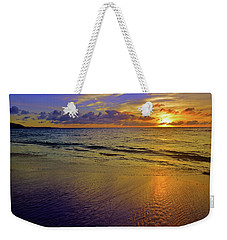 Weekender Tote Bag featuring the photograph Sunset In The Sand by Tara Turner