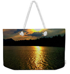 Weekender Tote Bag featuring the digital art Sunset In The Smoky Mountains 1 by Chris Flees
