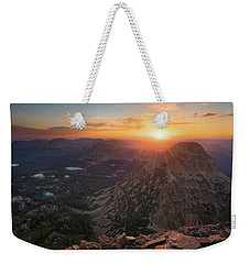 Sunset In The Uinta Mountains Weekender Tote Bag