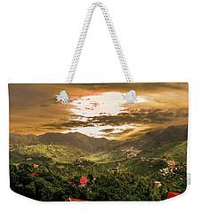 Sunset In Valley  Weekender Tote Bag
