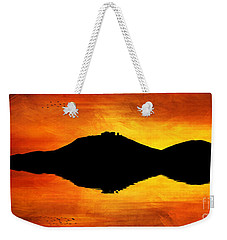 Sunset Island Weekender Tote Bag by Ian Mitchell