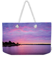 Weekender Tote Bag featuring the photograph Sunset Lake Arlington Texas by Robert Bellomy