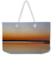 Weekender Tote Bag featuring the photograph Sunset Lake Texhoma by Diana Mary Sharpton