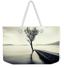 Sunset Landscape With A Tree In The Background Immersed In The L Weekender Tote Bag