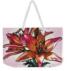 Sunset Lily Weekender Tote Bag