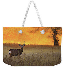 Weekender Tote Bag featuring the photograph Sunset Lover by Kadek Susanto