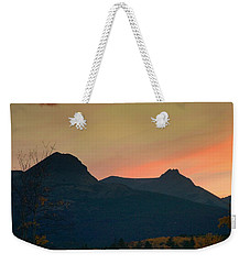 Sunset Mountain Silhouette Weekender Tote Bag