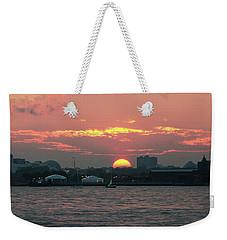 Sunset Nyc Harbor Weekender Tote Bag
