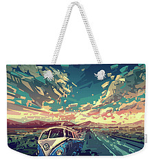 Sunset Oh The Road Weekender Tote Bag by Bekim Art