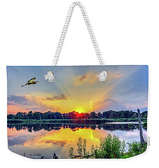 Sunset On A Chesapeake Bay Pond Weekender Tote Bag