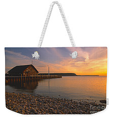 Sunset On Anderson's Dock - Door County Weekender Tote Bag