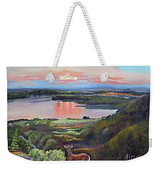 Sunset On At Legacy Bay - Paradise - Deer Weekender Tote Bag