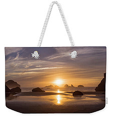 Sunset On Bandon Beach Weekender Tote Bag