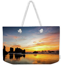 Sunset On Bandon Weekender Tote Bag