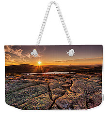 Sunset On Cadillac Mountain Weekender Tote Bag