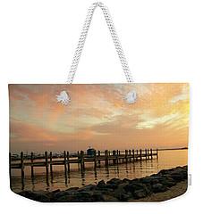 Sunset On Dewey Bay Weekender Tote Bag by Trish Tritz