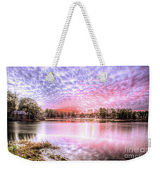 Weekender Tote Bag featuring the photograph Sunset On Flint Creek by Maddalena McDonald