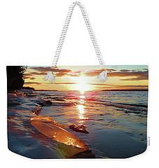 Sunset On Ice Weekender Tote Bag