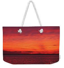 Sunset On Jersey Shore Weekender Tote Bag