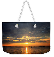 Sunset On Lake Hartwell Weekender Tote Bag by Lynne Jenkins