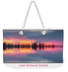 Weekender Tote Bag featuring the photograph Sunset On Lake Norman by Ronald Santini