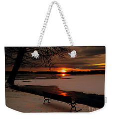 Sunset On Lake Quanapowitt Weekender Tote Bag