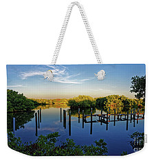 Sunset On Long Bayou Weekender Tote Bag