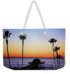 Sunset On Manhattan Beach Pier Weekender Tote Bag