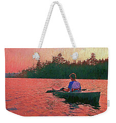 Sunset On Parker Pond Weekender Tote Bag