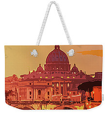 Sunset On Rome The Eternal City Weekender Tote Bag