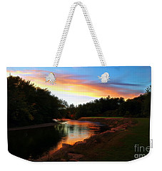 Sunset On Saco River Weekender Tote Bag