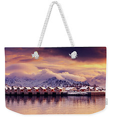 Sunset On Svolvaer Weekender Tote Bag
