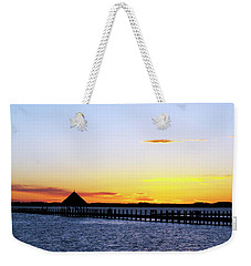 Sunset On The Bay Weekender Tote Bag by Elsa Marie Santoro