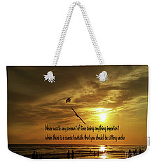 Weekender Tote Bag featuring the photograph Sunset On The Beach by Gary Wonning