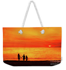 Weekender Tote Bag featuring the digital art Sunset On The Beach by Randy Steele