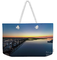 Sunset On The Boardwalk At Grays Beach Cape Cod Weekender Tote Bag
