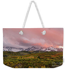 Sunset On The Dallas Divide Ridgway Colorado Weekender Tote Bag